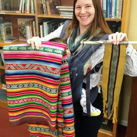 Alisha Reyes's backstrap weaving