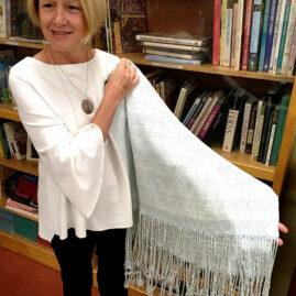 Linda Hartig's silk wedding shawl
