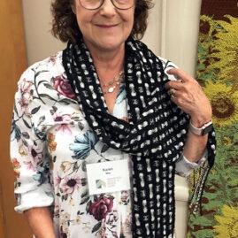 Karen's deflected double weave scarf