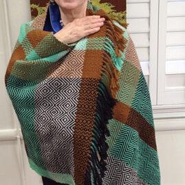 Sheila's student Kiera's poncho fabric