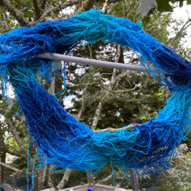 Linda Hartig's dyed yarn
