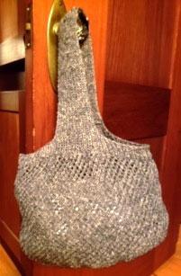 Terri Nevins' wool and hemp bag