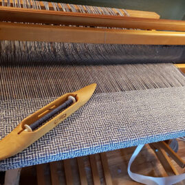 Valerie Ader's Defl double weave before washing