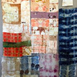 Simone McManus's embellished eco prints