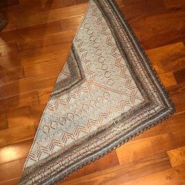 Sophia Brantley's shawl with handspun