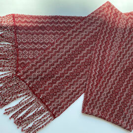 S&S Susan Robinson's Chenille Shadow Weave scarf
