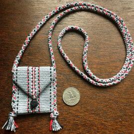 Ellen LaBruce's Red Color Challenge Inkle & Kumihimo purse