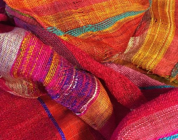 Colorful weaving yarns