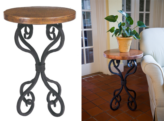 Timeless Wrought Iron - Alexander Accent Table