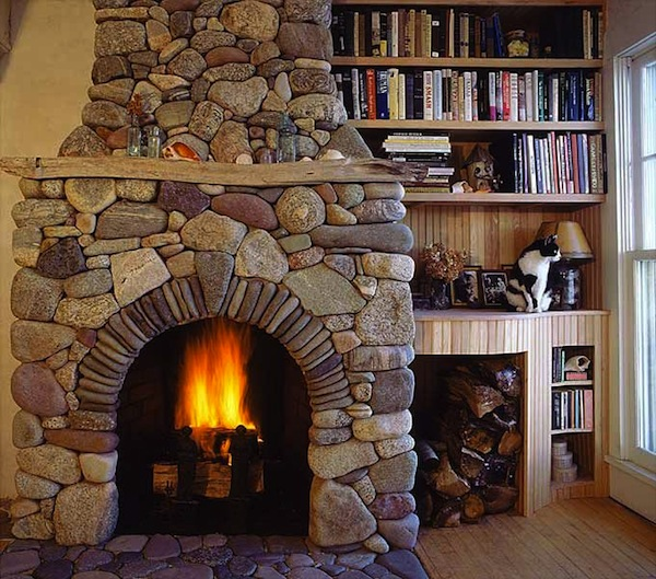 How to build a fireplace fire