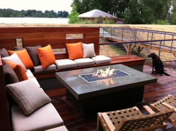 firepit in seating area
