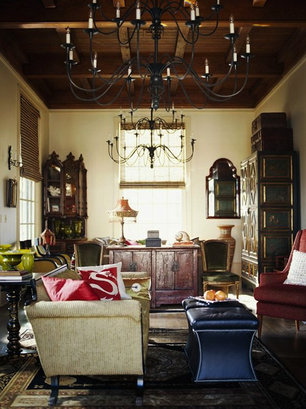 Square Ottomans as Coffee Table
