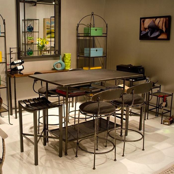 Wrought Iron Bar Table