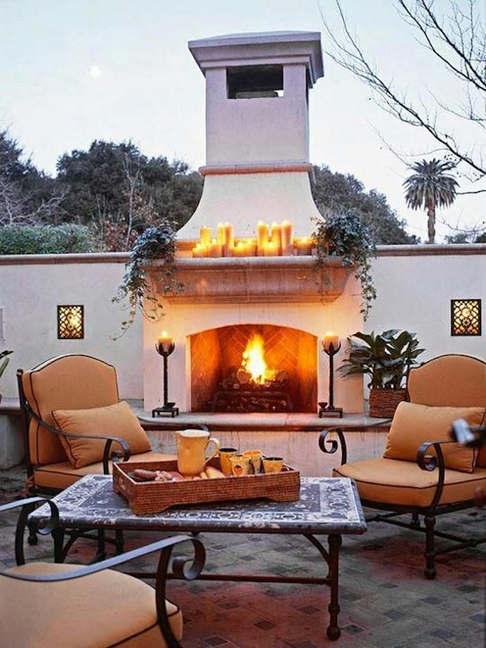 Fall Patio with Fireplace