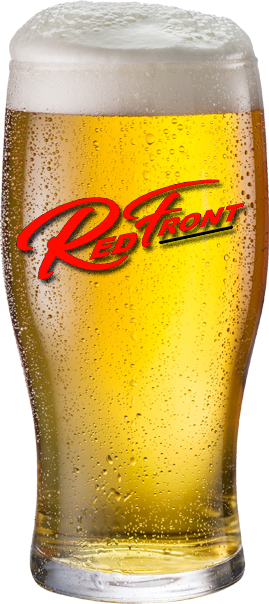 Red Front Beer with Logo