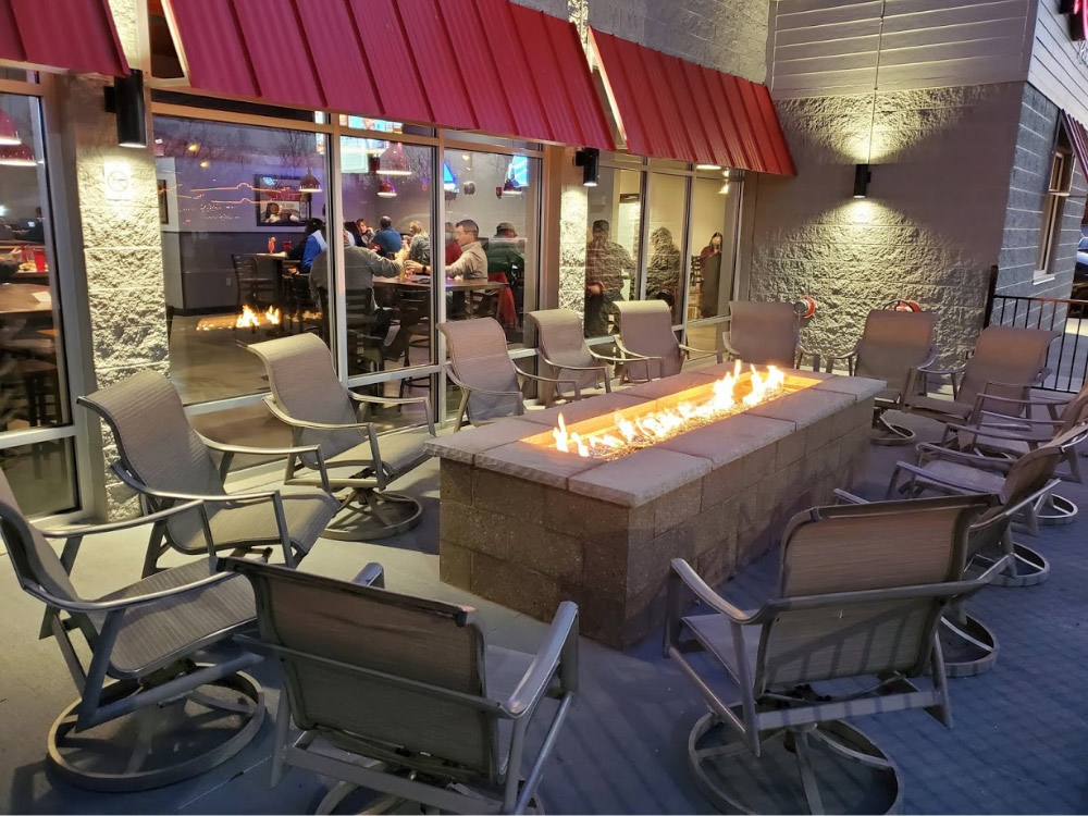 Outdoor seating at Red Front Richmond