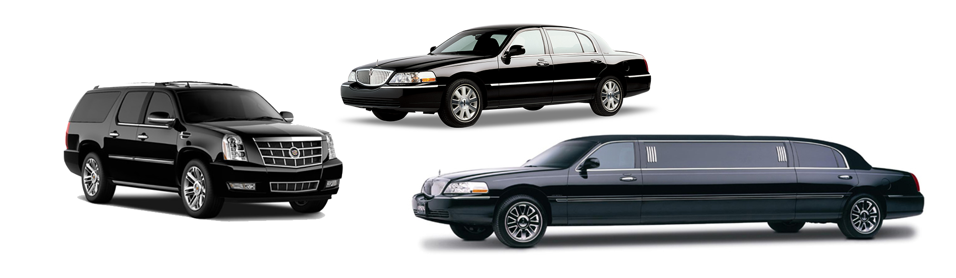 luxury SUV and stretch limousines
