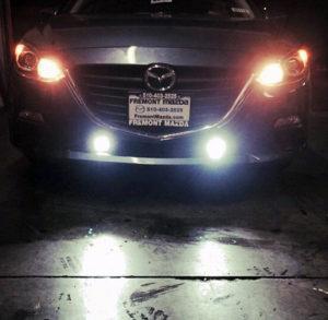 Installed on Mazda
