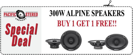 Alpine Speaker Sale -- Buy 1 Get 1 FREE