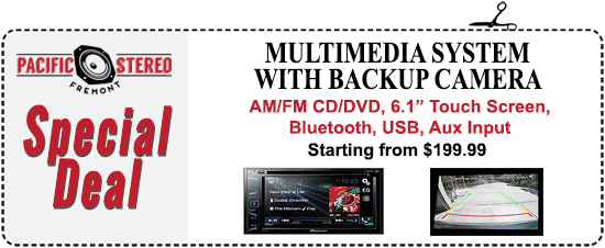"AM/FM, CD/DVD, 6.1"" Touch Screen, Bluetooth, USB, Aux Input - starting from $199.99"