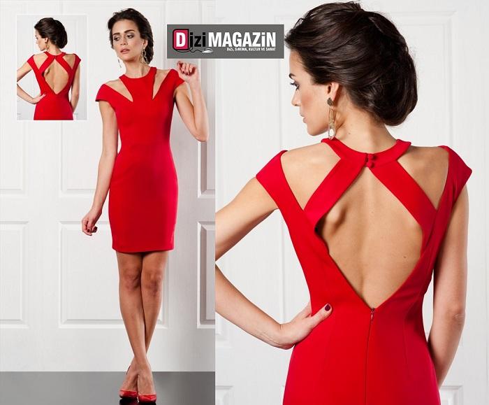 Özgür Masur Koleksiyonundan Kırmızı Elbise