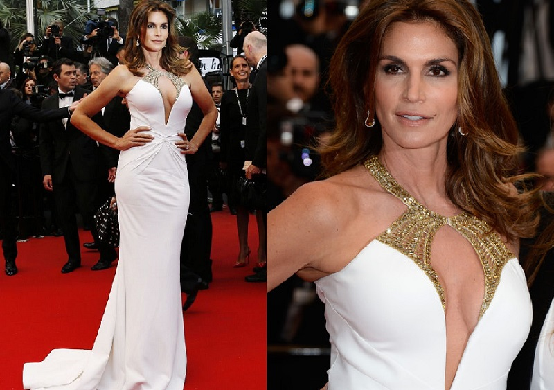 Cindy Crawford Cannes Film Festival Elbisesi