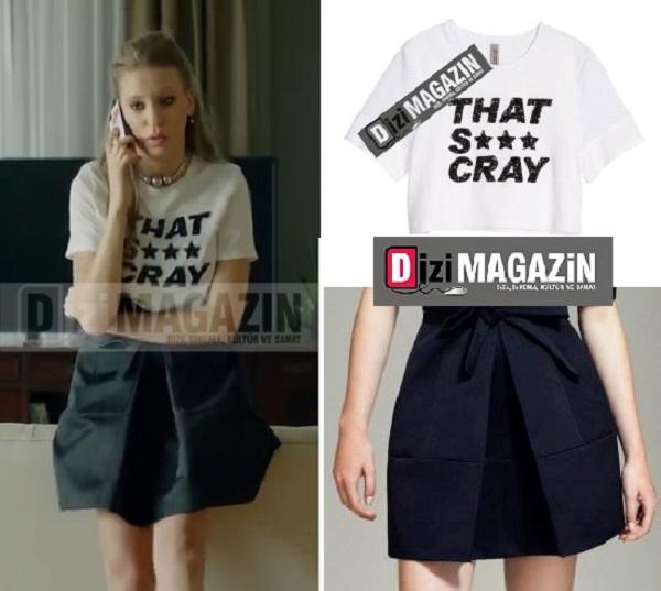 Medcezir Serenay Sarıkaya - H&M tişört ve Machka Etek Tercihi