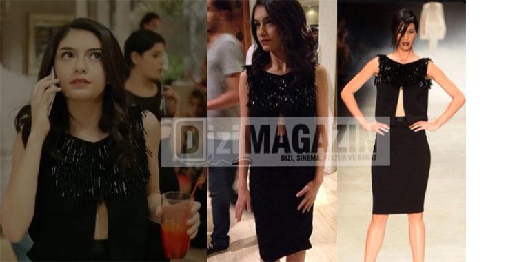 Medcezir 8. Bölüm Eylül Siyah Elbise Özgür Masur Tasarımı