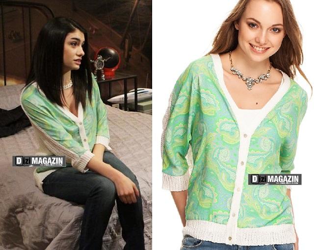Medcezir - Eylül Kıyafetleri - Yeşil Hırka