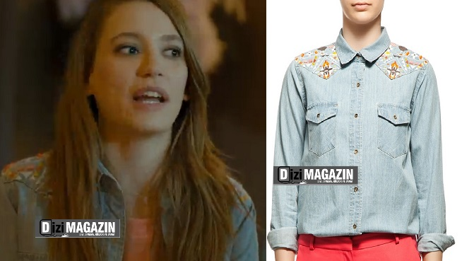 Medcezir Mira - şarkı Söylerken Giydiği Kot Gömlek - Twist