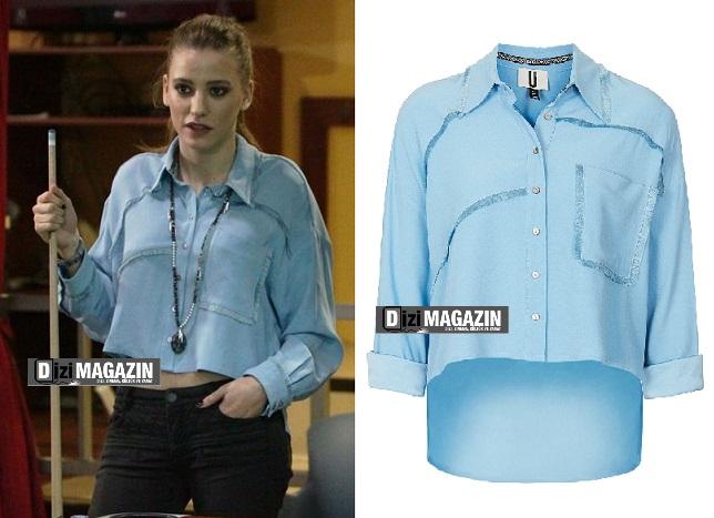 Medcezir Mira ( Serenay Sarıkaya ) Mavi Gömlek - Topshop