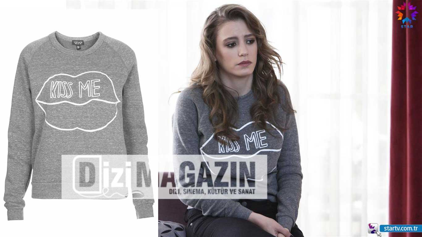 Mira Kiss Me Yazılı T-Shirt TopShop
