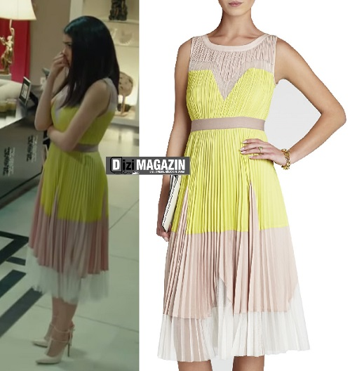 Medcezir Eylül - Sarı Elbise - BCBG