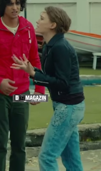 Medcezir Mira - Siyah Deri Ceket - Pantolon