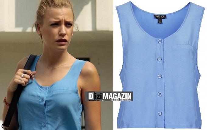 Medcezir Mira - Mavi Bluz - Topshop