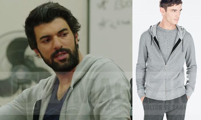 Kara Para Aşk Kıyafetleri - Ömer Sweatshirt - Zara