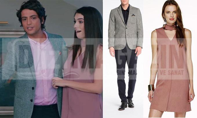 Medcezir Mert ve EYlül Kıyafetleri - Bölüm 45 - Mert Ceket Scotch Soda - Eylül Elbise İpekyol