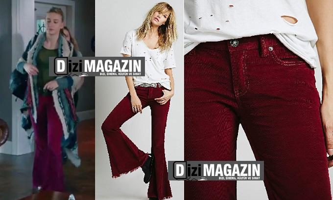 Medcezir 46. Bölüm Kıyafetleri - Mira Kırmızı Kadife Pantolon