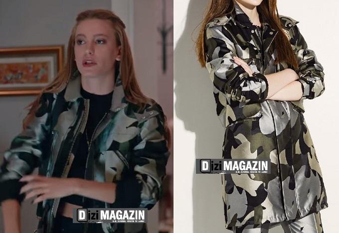 Medcezir Mira Kıyafetleri - Asker Desen Mont - Twist
