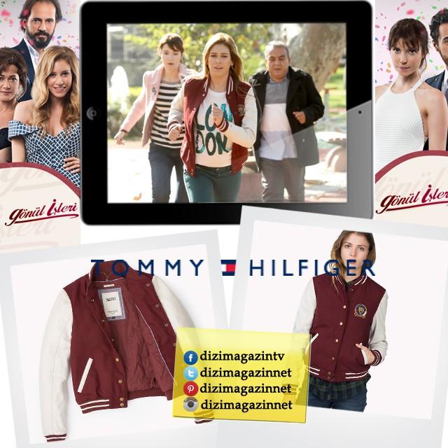 Gönül İşleri Sevda ( Sinem Kobal ) Kıyafetleri - Bordo Ceket - Tommy Hilfiger