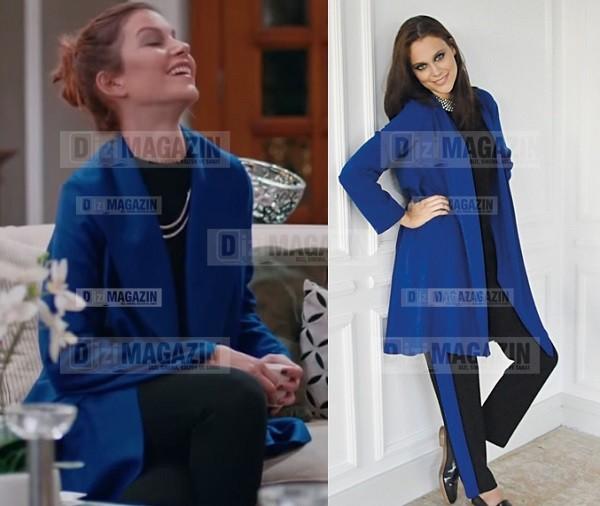 Medcezir Sedef - Mavi Ceket - Noi Triko