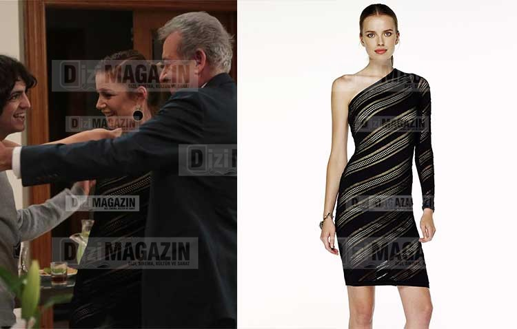 Sedef Transparan Tek Omuz Elbise İpekyol Marka