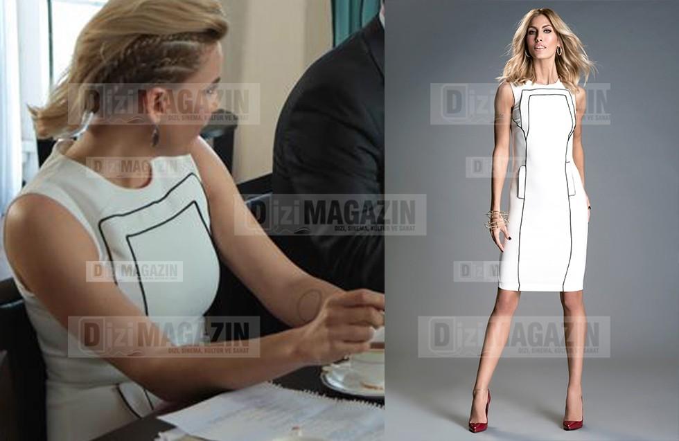 Sude Beyaz Elbise