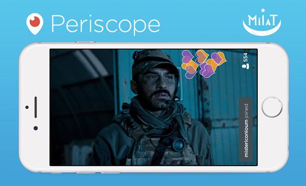 TRT, Dünyanın ilk Periscope Yayınını Gerçekleştirdi