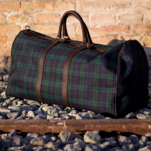 Duffle Bag - Green & Violet