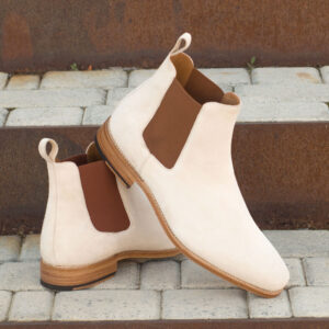 Chelsea boots with suit
