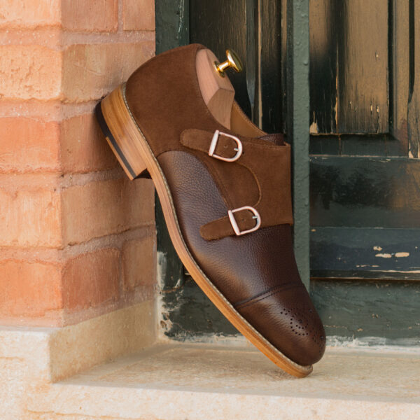 Brown Double Monk boot