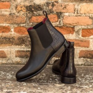 Leather Rubber Chelsea Boot