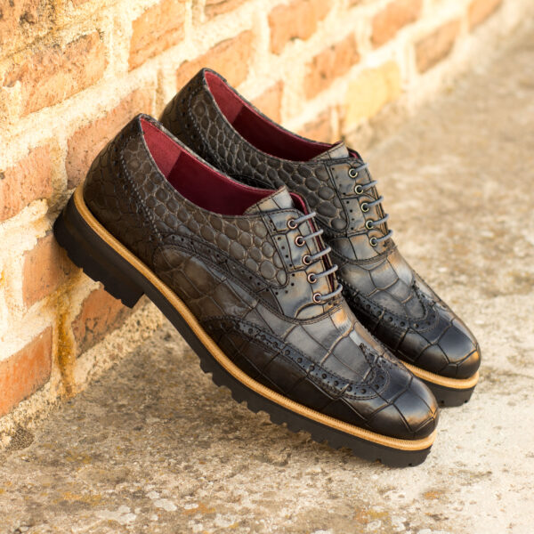 Black & Gray Full Brogue