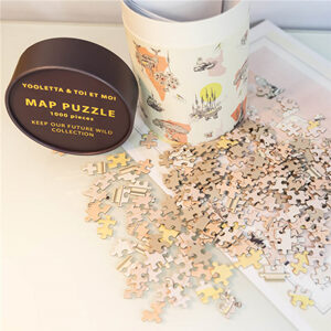 custom paper tubes for jigsaw puzzles packaging